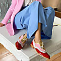 Red Pink & White Dolly Brogues image