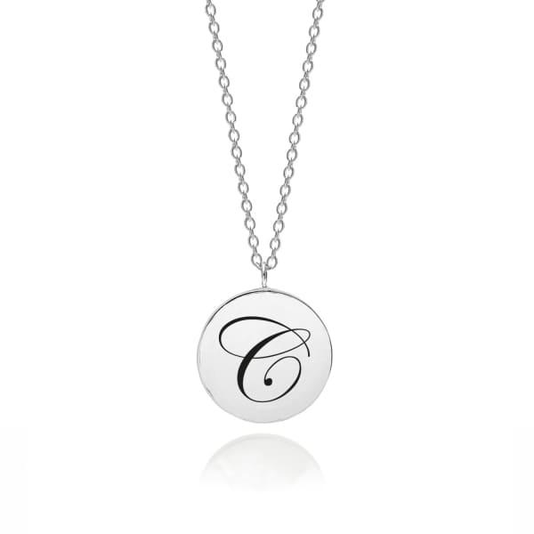 MYIA BONNER Sterling Silver Initial C Edwardian Pendant