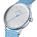 August Berg Serenity Silver Classic Sky Blue - Sky Blue Perlon 40mm image