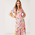 Matilda V-Neck Puff Sleeve Dress In Camo image