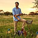 'Jiwe' Blue Pique Cotton Shirt image