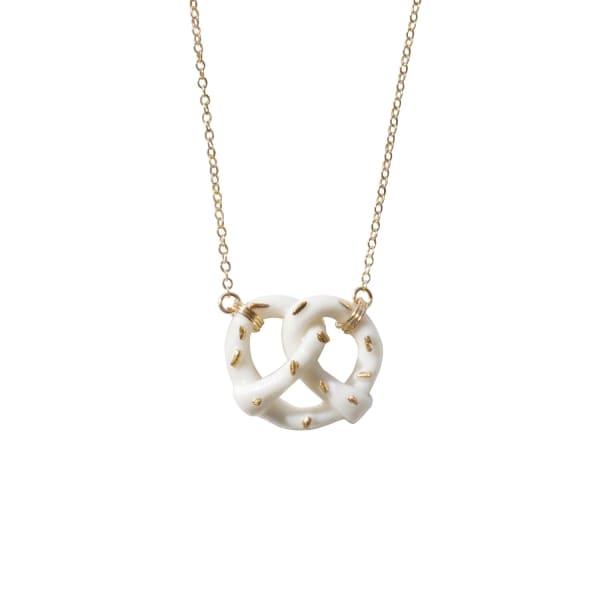Poporcelain Mini Porcelain Pretzel Necklace