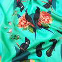Medium Tropical Rainforest Teal Silk Scarf image
