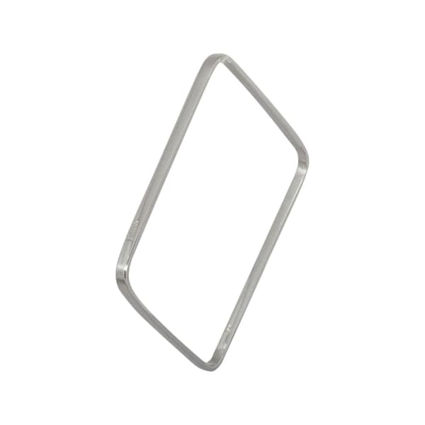 EDGE ONLY Square Bangle In Silver