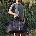 Worn Look Zip Detail Holdall In Navy Blue image