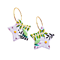 Lilac Daisy Flower Earrings -Stars image