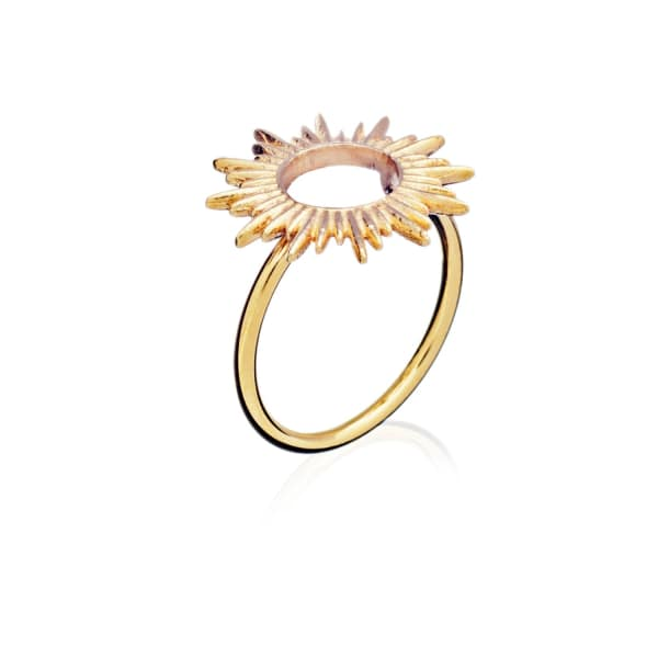 Sunrays Ring In Gold from Wolf & Badger