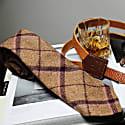Regent Tan & Purple Herringbone Wool Neck Tie image