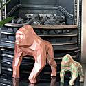 Gorilla Geometric Sculpture - Gus In Metallic Silver image