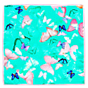 Scarf Mint Butterfly Big image