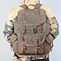 Waterproof Waxed Canvas Backpack Green image