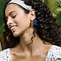 Raspberry Jelly Clip-On Earrings image
