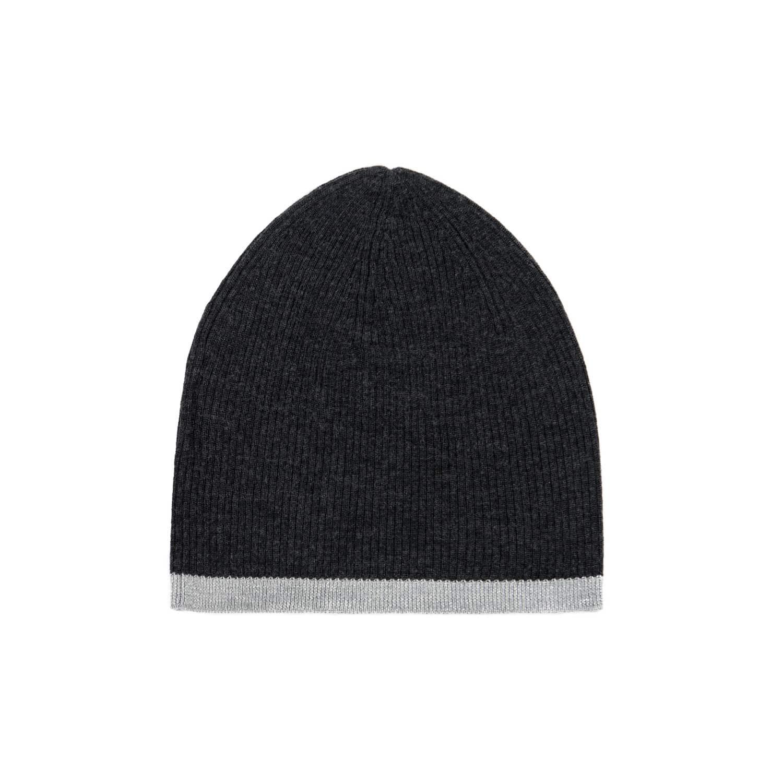2369ec65 Merino Beanie Hat Black Marl & Silver | Ille De Cocos | Wolf & Badger
