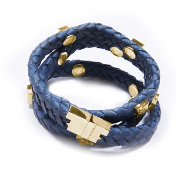 TISSUVILLE Brio Bracelet Royal Blue Gold