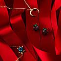 Turtle Turquoise Blue Bracelet Gold image