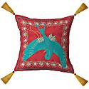 Blue Bird Organic Cotton Cushion Red - 60 Square image