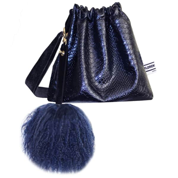 FLORENCE BRIDGE Lyla Party Pouch in Navy