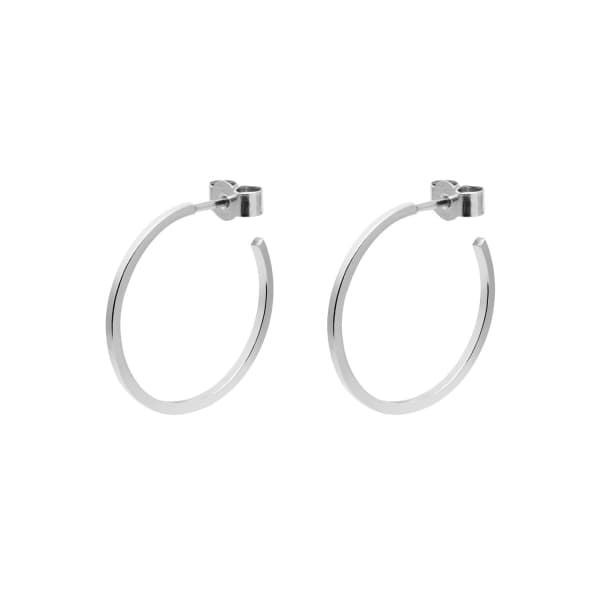 MYIA BONNER Silver Medium Hoop Earrings
