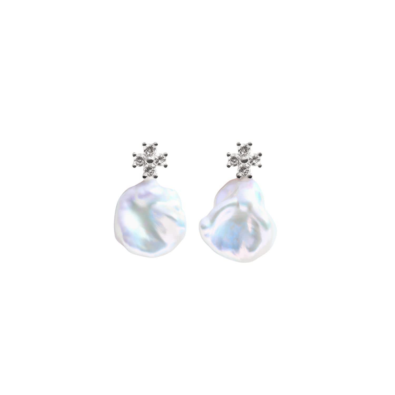 Keshi Pearl Earrings