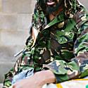 Camo Army Jacket - Gold Katana image