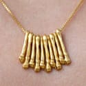 Hand Necklace Gold image