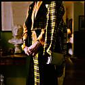 Crop Trouser In 100% Wool Yellow Scottish Tartan & Contrast Black Back Leg image
