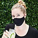 "Women's Silk & Cotton ""Sippa"" Face Mask - Black/Gold image"