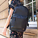 Leather Classic Backpack Rucksack In Black Leather image