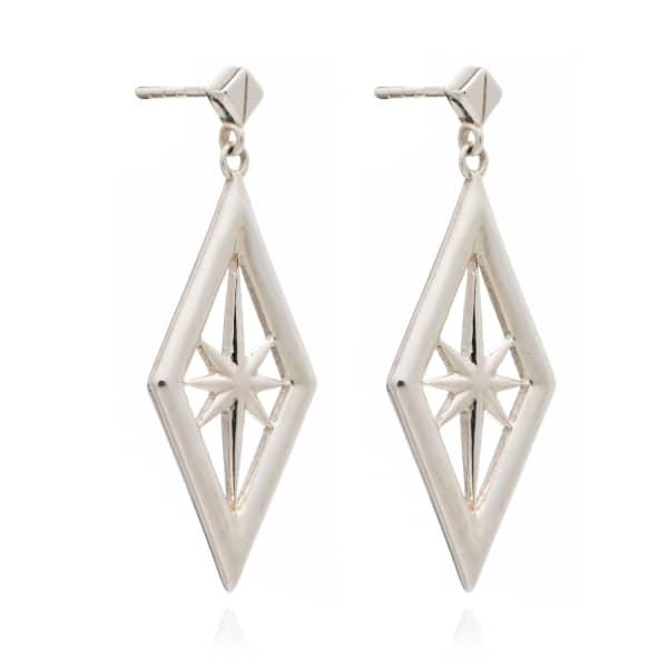 RACHEL JACKSON LONDON Nova Star Earrings In Silver