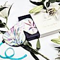 Silk Iridescent Garden Deep Sleep Eye Mask With Velvet Ribbon image