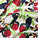 Large Black Cockatoos Silk Scarf image