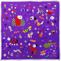 Cyclades Silk Scarf Space Purple image