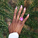 Magenta Mega Gemstone Gold Statement Ring image