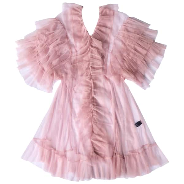 Tulle Babydoll In Dusty Pink