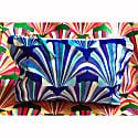 Luxury Blue Velvet Cosmetic Bag image