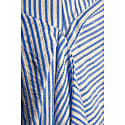 Anna Asymmetric Dress Blue Stripe image