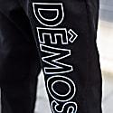 Demos Black Big Logo Embroidered Corduroy Trousers image