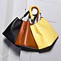 Vegan Leather Mimi Bucket Bag - Yellow image