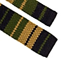 Olive Green Striped Wool & Cashmere Knitted Tie image