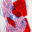 Pink Red Floral Limited Edition Screen Print image