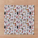 Handkerchief Pocket Square Set Alice In Wonderland Characters, Flamingos & Hedgehogs, Eat Me Drink Me image