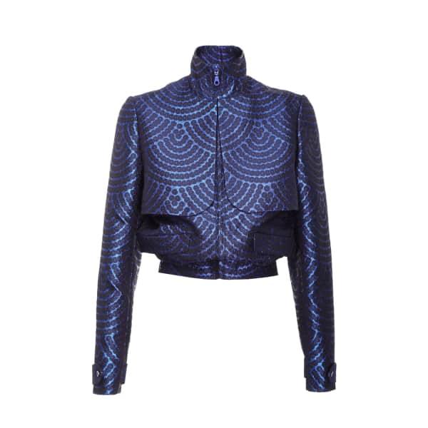 JIRI KALFAR Blue Brocade Jacket