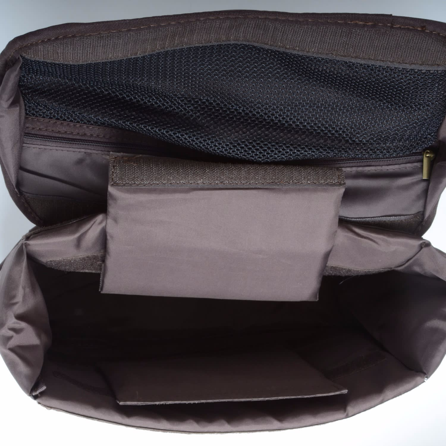 eed7a363aa Waxed Canvas Messenger Bag With Dslr Camera Sleeve in Brown image