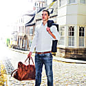 Leather Drake Holdall Bag In Vintage Brown With Mahogany Trim image