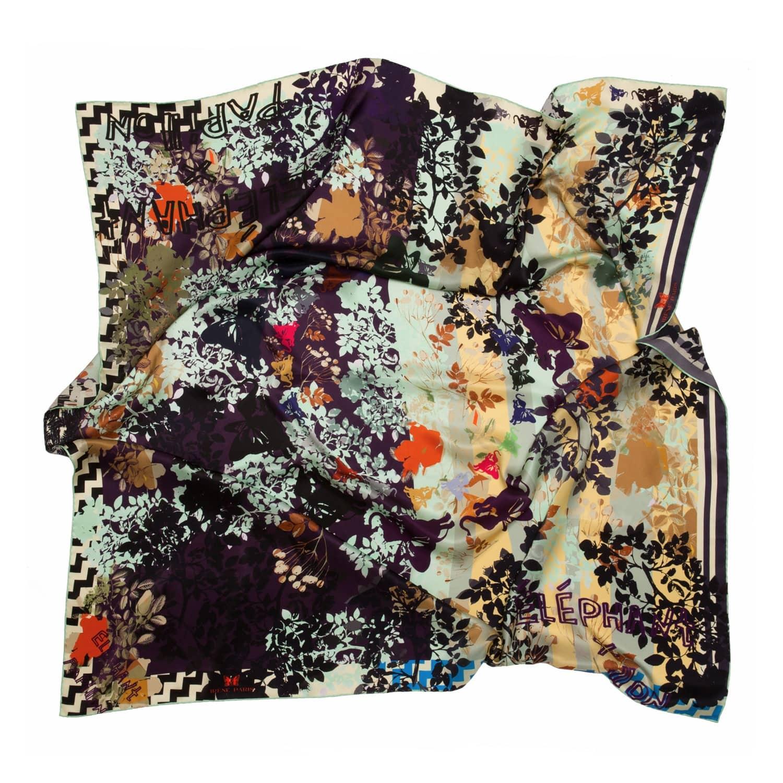 Royal Jardin De Reve Silk Scarf By Irene Paris