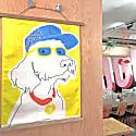 Doggy Dude Cloth Art & Hanger image