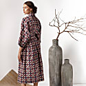 Cotton Kimono Wrap Dress Massami image