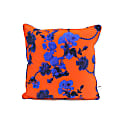 Silk Cushion Gothic Floral Red Print image