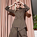 Asymmetric Blazer Khaki image