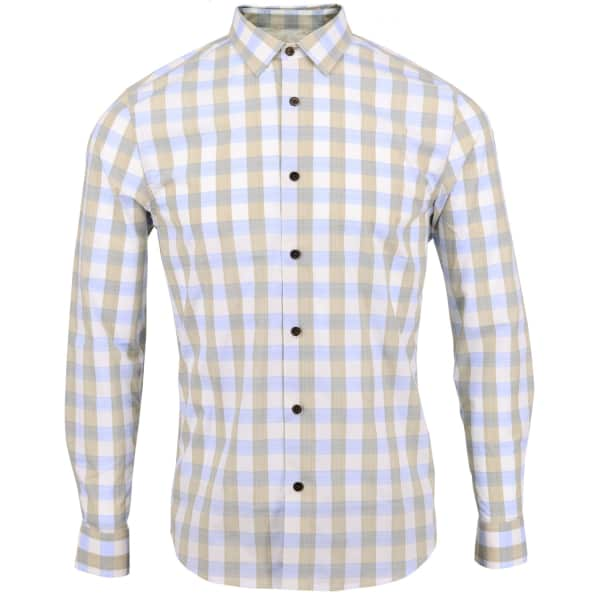 LORDS OF HARLECH Nigel Shirt In Sand Gingham